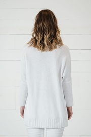 Go Fish Clothing Spring White Sweater - Back cropped