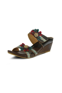 Shoptiques Product: Bacall Brown Wedge