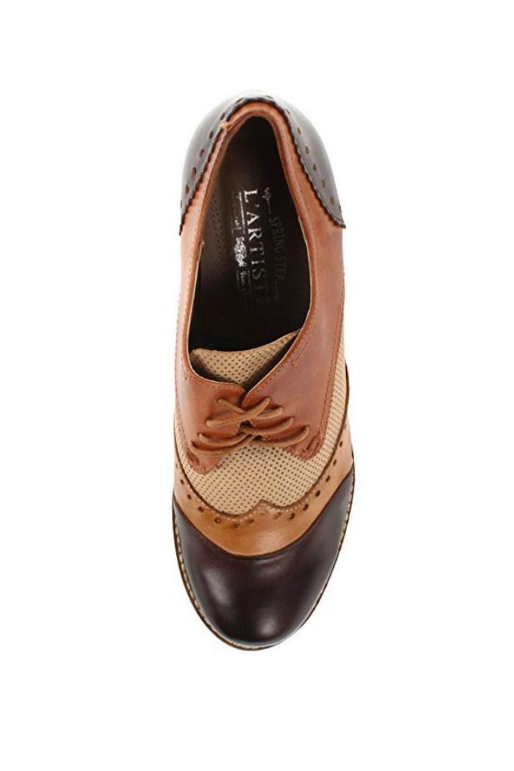 Spring Footwear Derby Style Pump - Front Full Image