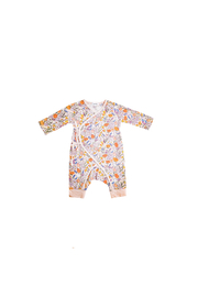 Angel Dear Springtime Floral Wrap Coverall - Front cropped