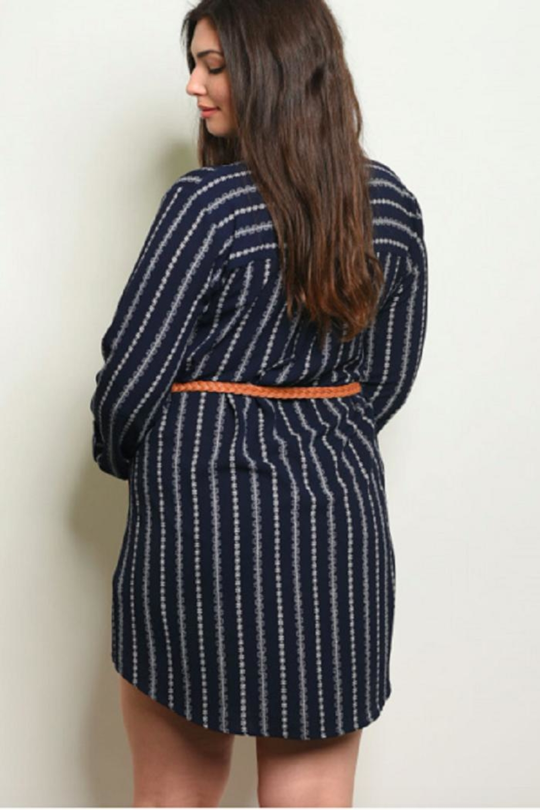 perch Springtime Tunic Navy - Front Full Image