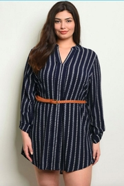 perch Springtime Tunic Navy - Front cropped