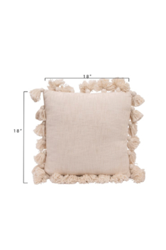 Creative Co-Op Square Cotton Pillow with Tassels - Alternate List Image