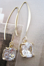 It's Sense Square Cubic Wire Hook Gold Earring - Product Mini Image