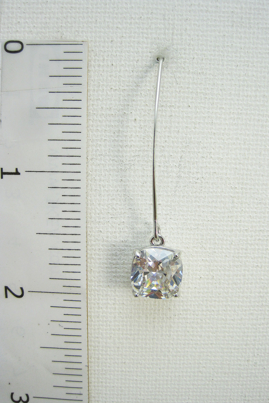 It's Sense Square Cubic Wire Hook Gold Earring - Side Cropped Image