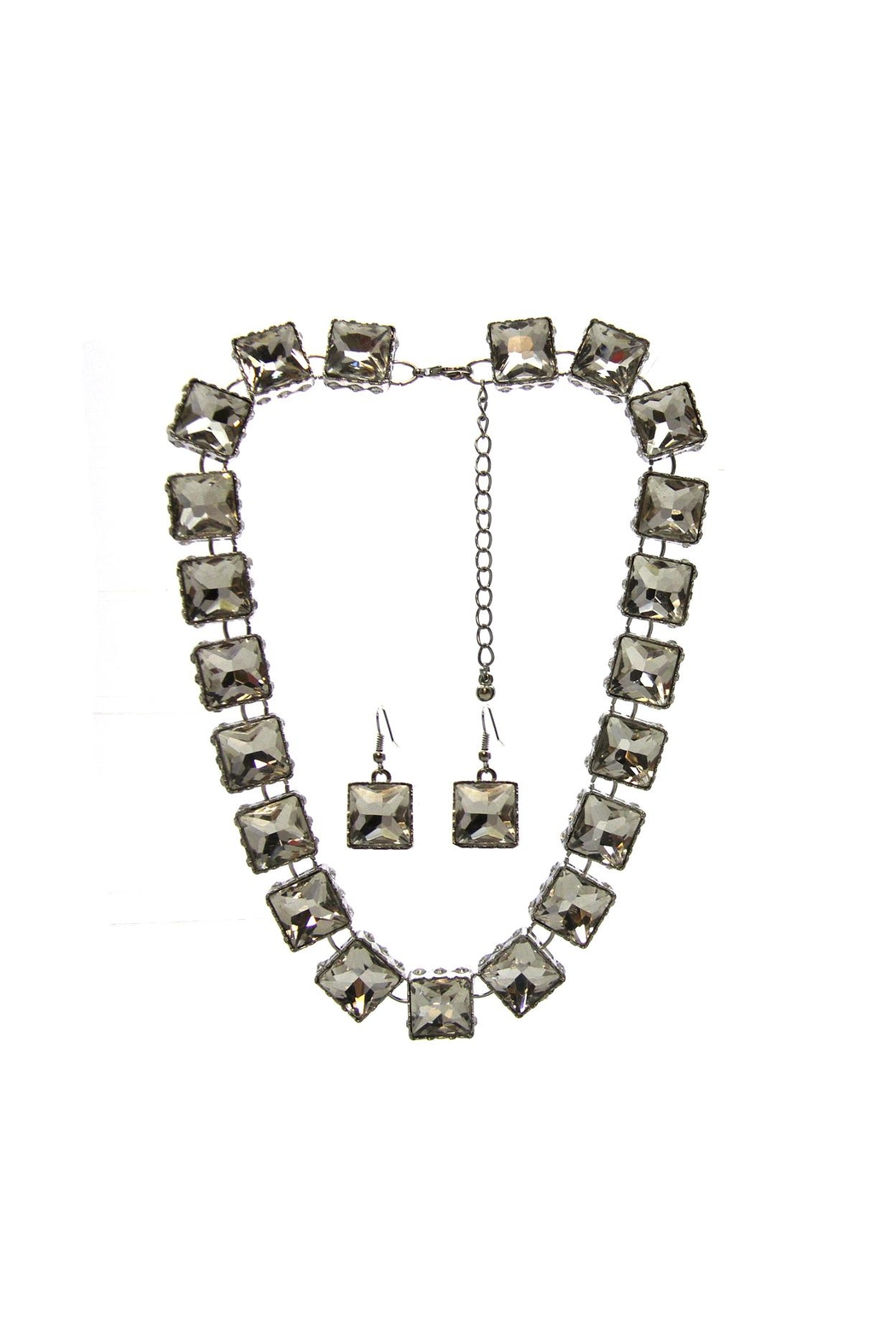 Sassy South Square Cut Necklace-Set - Main Image