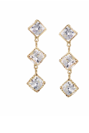 US Jewelry House Square Drop Earrings - Product Mini Image
