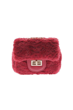 Doe a Dear Square Faux-Fur Turn Clasp Purse - Product List Image
