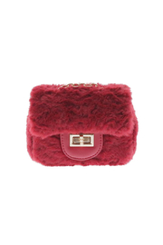Doe a Dear Square Faux-Fur Turn Clasp Purse - Product Mini Image