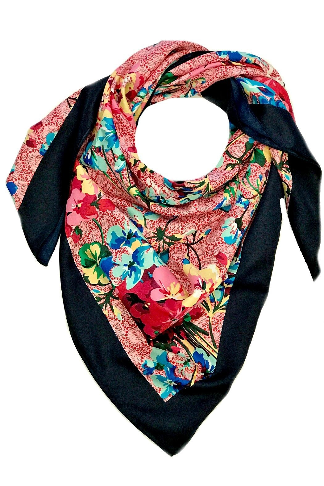 L'Imagine Square Floral Scarf - Front Cropped Image