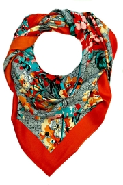 L'Imagine Square Floral Scarf - Front cropped