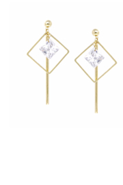 US Jewelry House Square Hoop Drop Earring - Product Mini Image