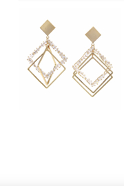 US Jewelry House Square Hoop Earrings - Product Mini Image