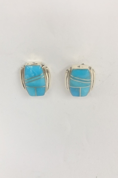 Shoptiques Product: Square Inlay Turquoise Earring