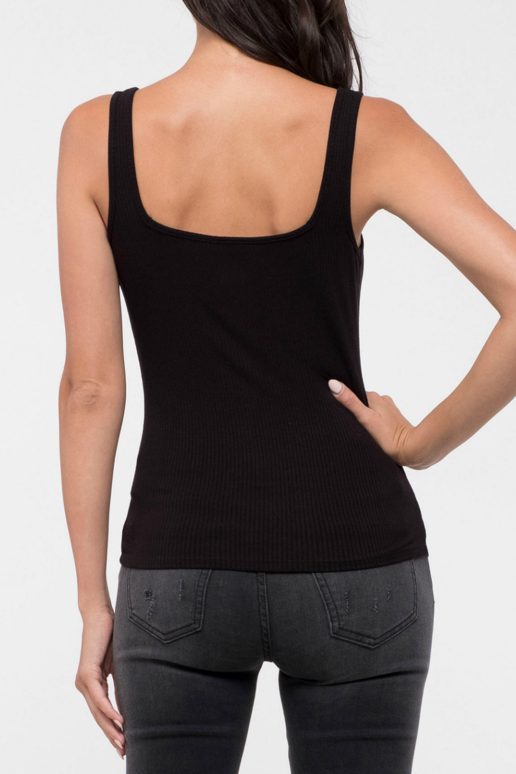 blu Pepper  Square knit cami - Front Full Image