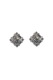 Diane's Accessories Square Marcasite Earrings - Product Mini Image