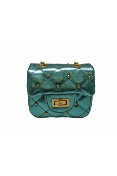 Doe a Dear Square Metallic Purse With Circle Studs - Alternate List Image
