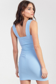 blue blush Square Neck Bodycon Dress - Other