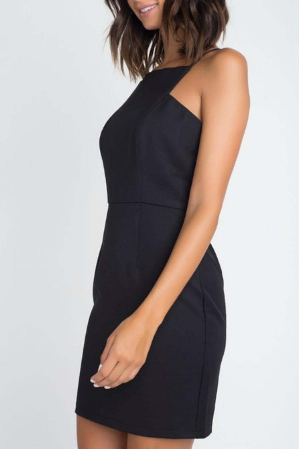 Minuet Square Neck Cocktail Dress - Side Cropped Image