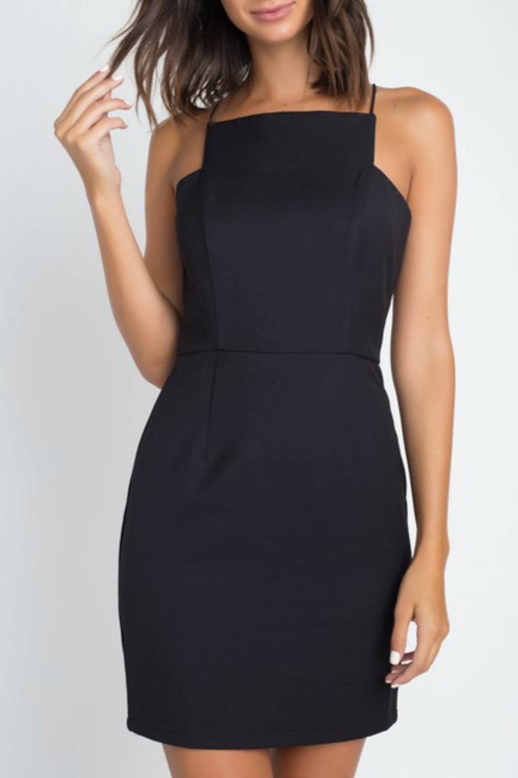 Minuet Square Neck Cocktail Dress - Front Cropped Image