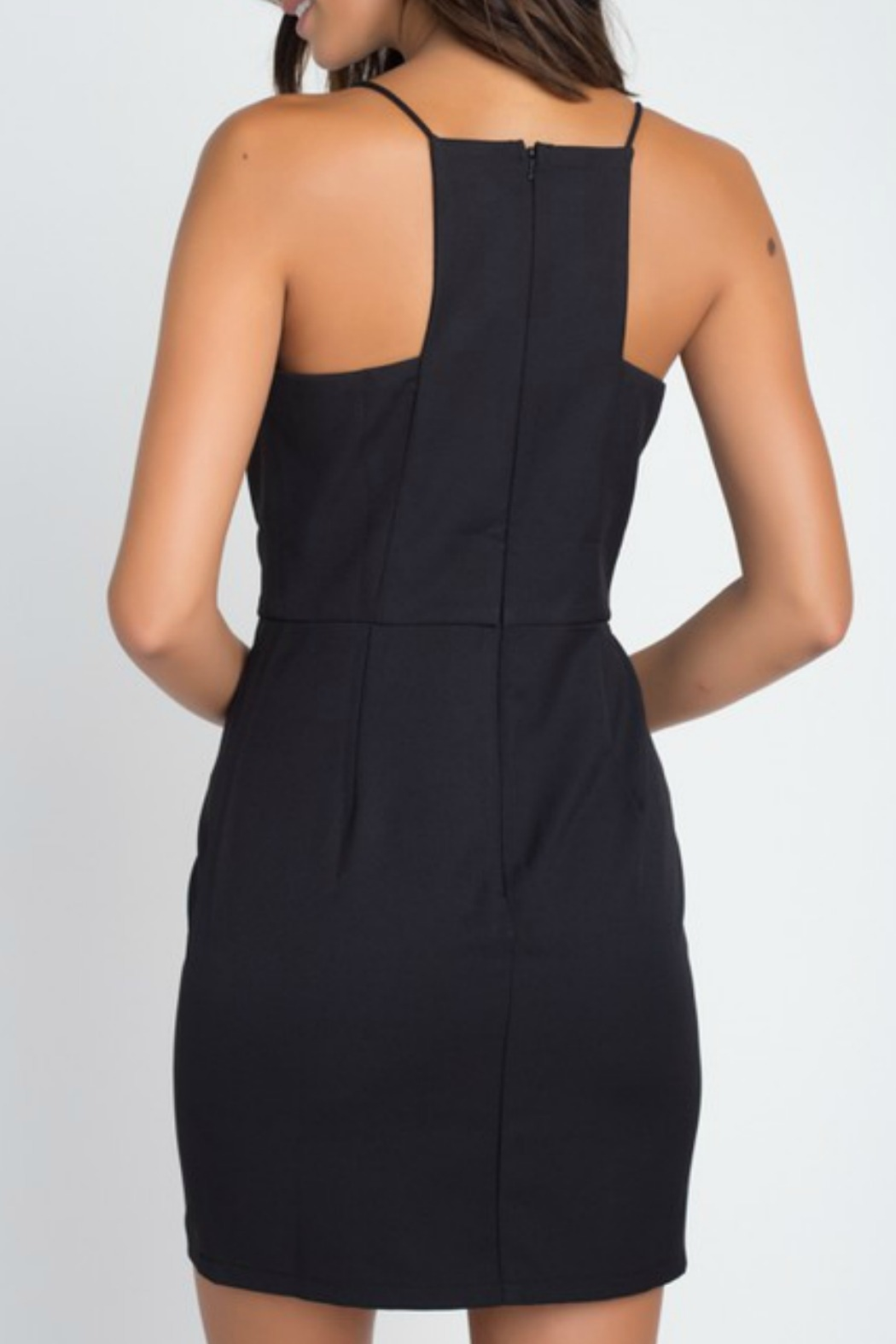 Minuet Square Neck Cocktail Dress - Front Full Image