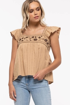 Mine Square Neck Embroidered Top - Product List Image