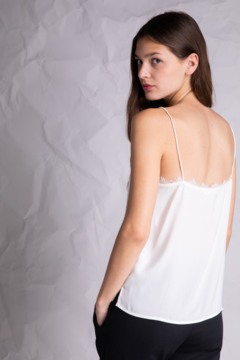 Grade & Gather  Square Neck Lace Tank - Product List Image