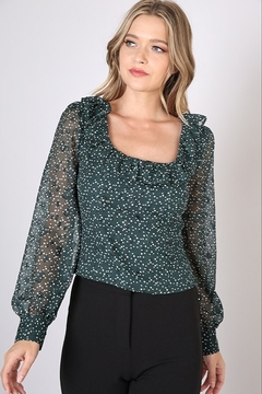 Do + Be  Square Neck Polka Dot Top - Product List Image