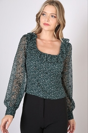 Do + Be  Square Neck Polka Dot Top - Front cropped