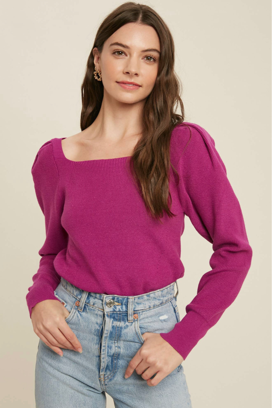 Bluivy Square neck pullover - Main Image