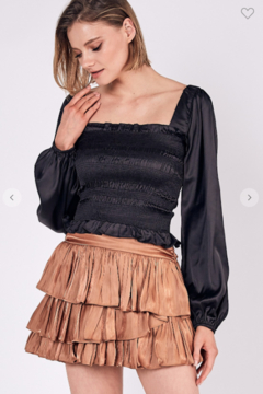 Do + Be  Square Neck Smocked Top - Product List Image