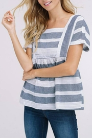 Listicle Square-Neck Stripe Top - Product Mini Image