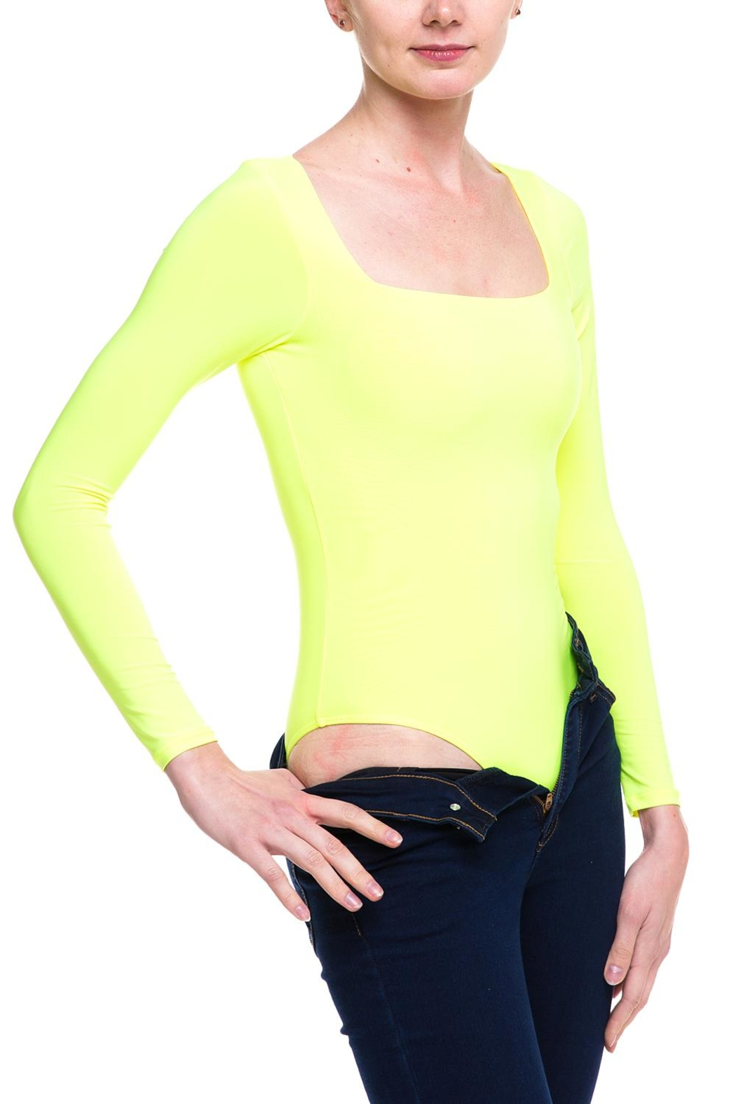 Uptown Square Neckline Bodysuit - Front Cropped Image
