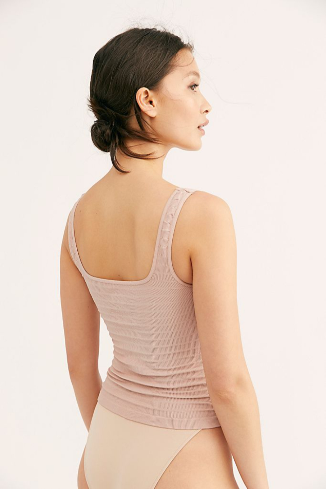 Free People  Square One Seamless Cami - Front Full Image