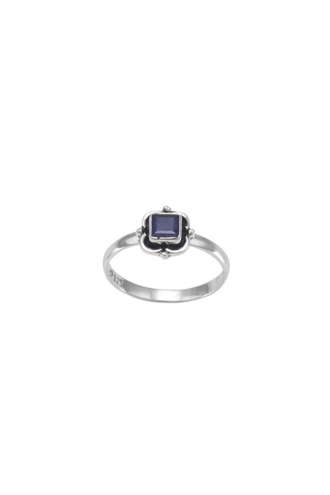 Wild Lilies Jewelry  Square Sapphire Ring - Main Image