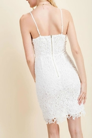 Pretty Little Things Squared Lace Dress - Front full body