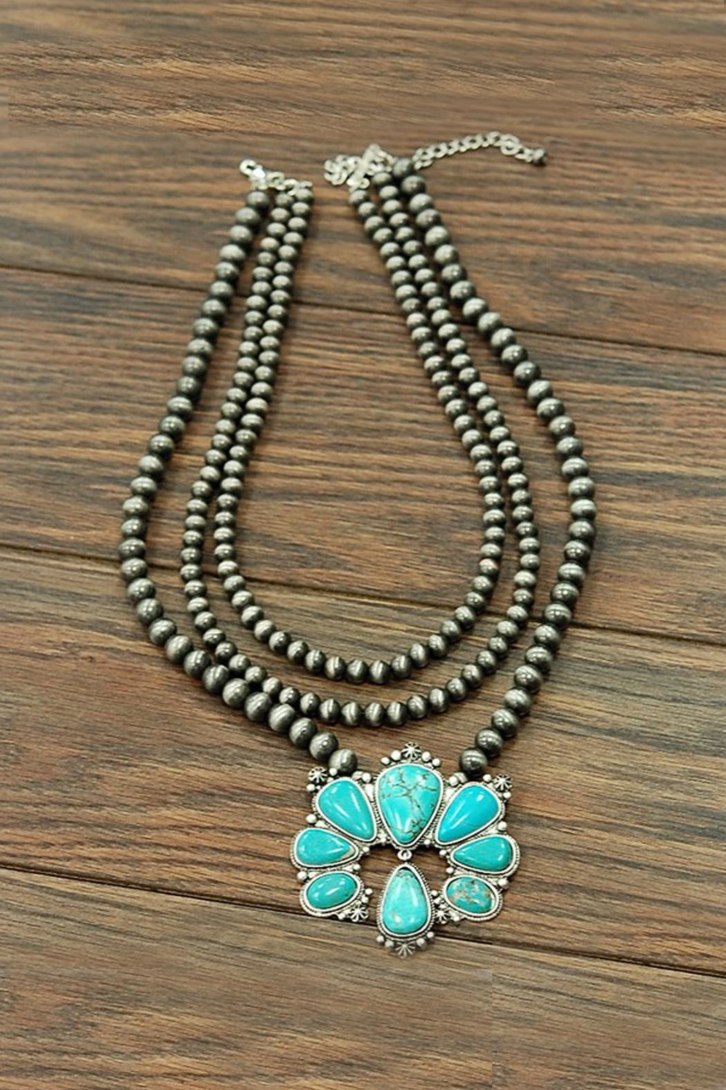 JChronicles Squash-Blossom Naja-Natural-Turquoise Necklace - Main Image