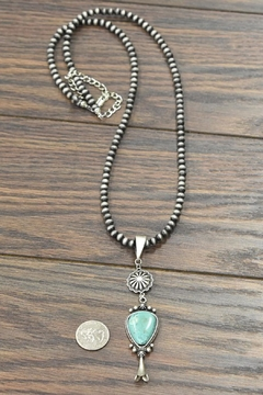 JChronicles Squash-Blossom Naja-Natural Turquoise-Necklace - Alternate List Image