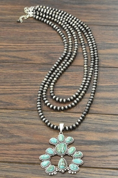 JChronicles Squash-Blossom-Naja Natural-Turquoise Squash-Blossom-Necklace - Product List Image