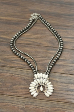 JChronicles Squash-Blossom Naja-Natural-White-Turquoise Necklace - Product List Image