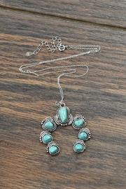 JChronicles Squash-Blossom Natural-Tq Sterling-Silver-Chain-Necklace - Product Mini Image