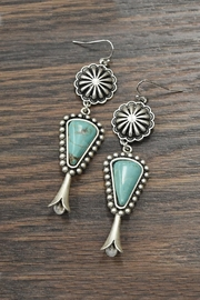JChronicles Squash-Blossom Natural-Turquoise Earrings - Product Mini Image