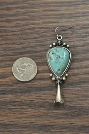 JChronicles Squash-Blossom Natural-Turquoise Earrings - Front full body
