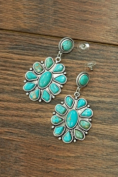 Shoptiques Product: Squash-Blossom Natural-Turquoise Earrings