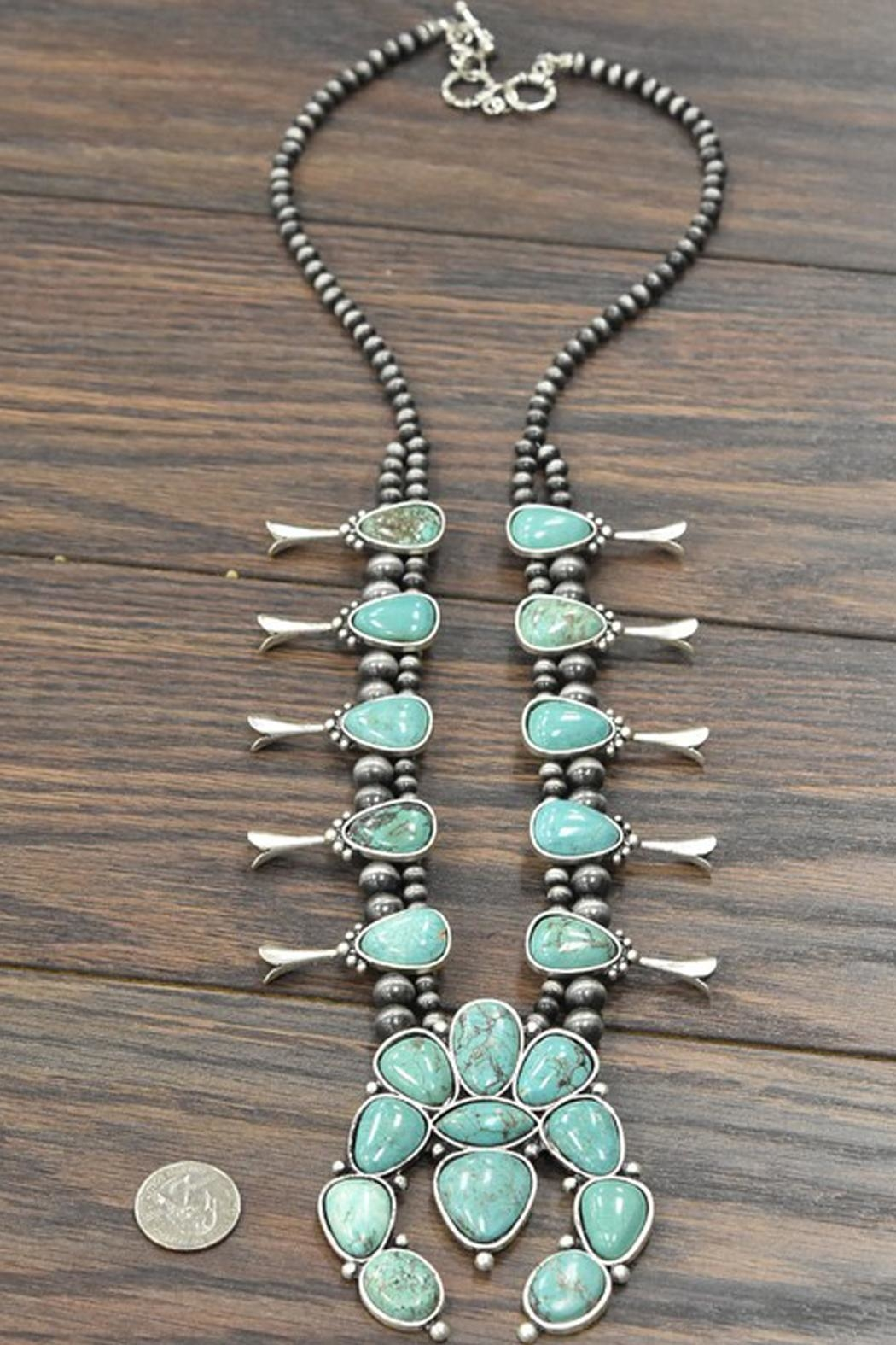 JChronicles Squash-Blossom Natural-Turquoise Necklace - Side Cropped Image