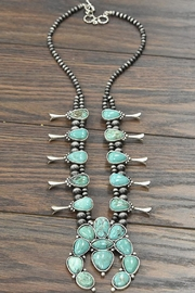 JChronicles Squash-Blossom Natural-Turquoise Necklace - Front cropped