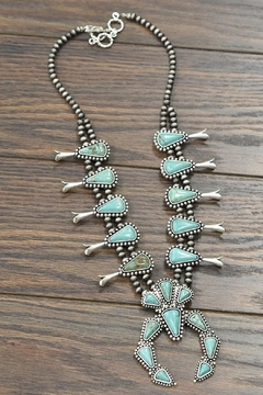 JChronicles Squash-Blossom Natural-Turquoise Necklace - Product List Image