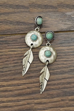 JChronicles Squash-Blossom Natural-Turquoise Post-Earrings - Product List Image