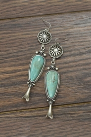 JChronicles Squash-Blossom Natural-Turquoise Post-Earrings - Product Mini Image