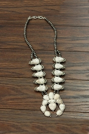 JChronicles Squash-Blossom Natural-White-Turquoise Necklace - Product Mini Image